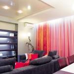 Дизайн штор для гостиной в современном стиле