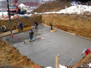 Заливка бетона в холода