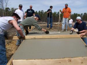 Заливка бетона в прохладную погоду