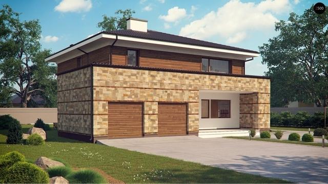 Крыша для дома с гаражом