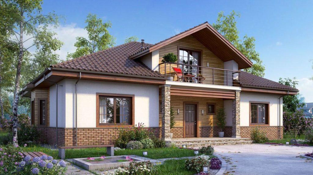 Крыша дома с мансардой
