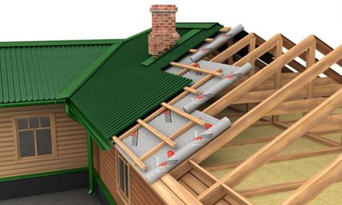 Скатная крыша – схема утепления